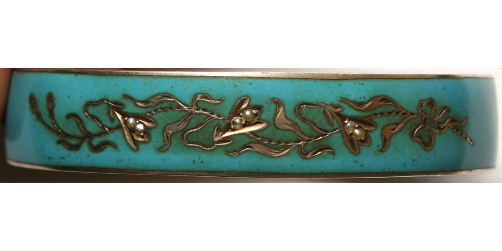 Art Deco zománcos ezüst karkötő