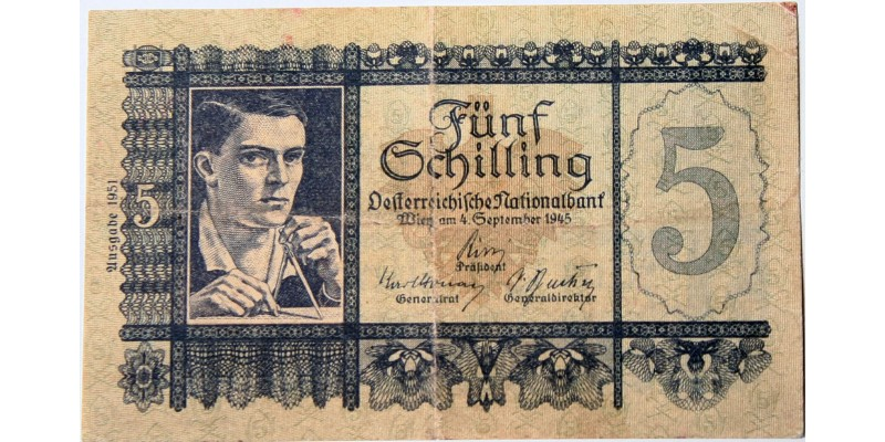 Ausztria 5 schilling 1945 R!