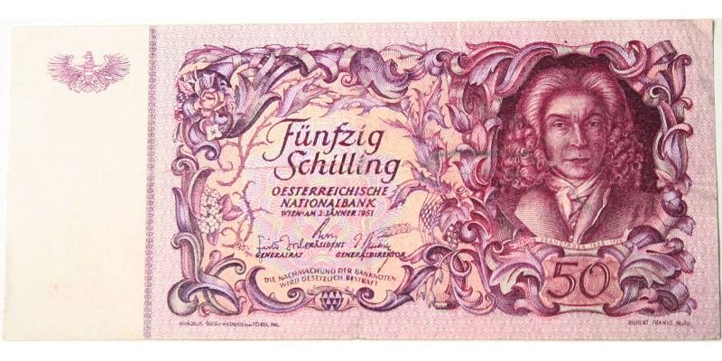 Ausztria 50 schilling 1951