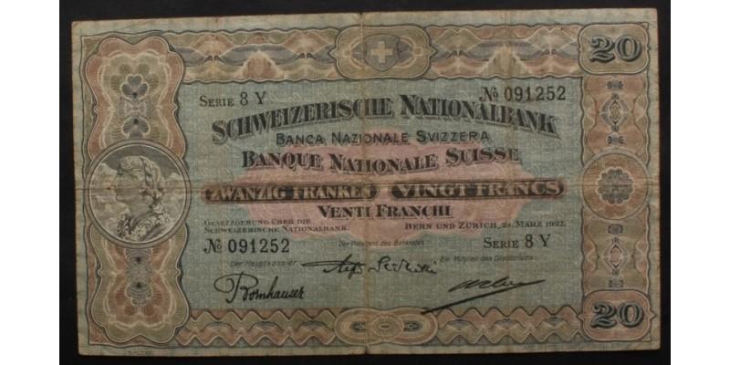 Svájc 20 Frank 1927 R!