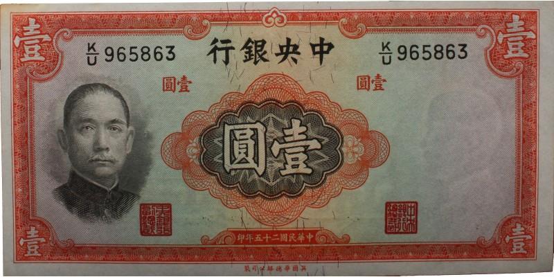 Kína 1 yuan 1936