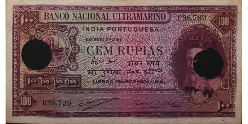 Portugál India 100 rupia 1945