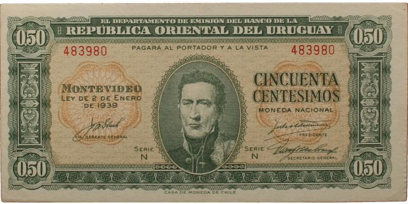 Uruguay 50 centesimos 1939