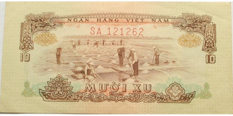 Vietnam Vietkong kiadás 10 xu 1966 (1975)