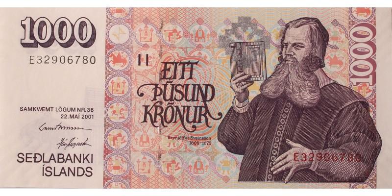Izland 1000 korona 2001
