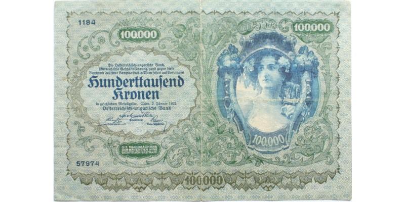 Ausztria 100000 korona 1922