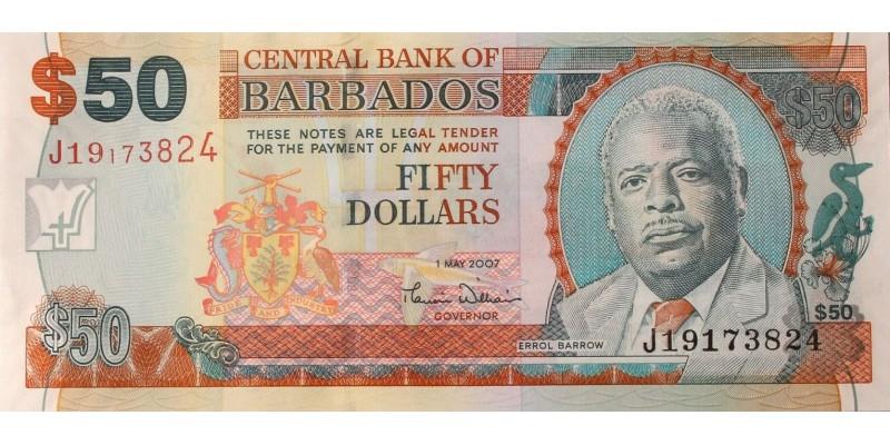 Barbados 50 dollár 2007