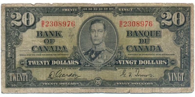 Kanada 20 dollár 1937