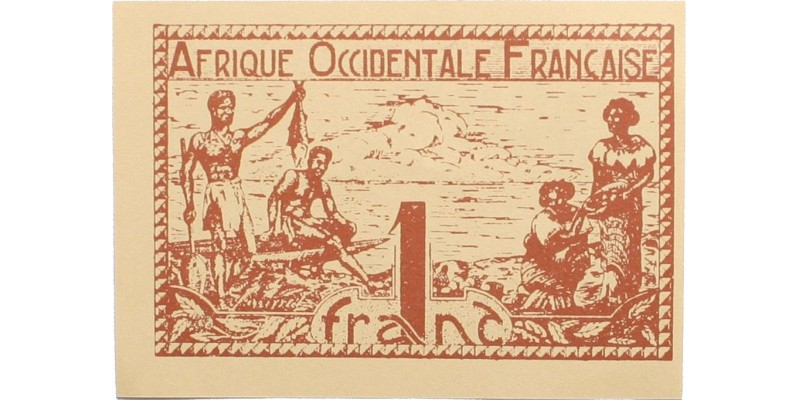 Francia Nyugat-Afrika 1 frank én. (1944)