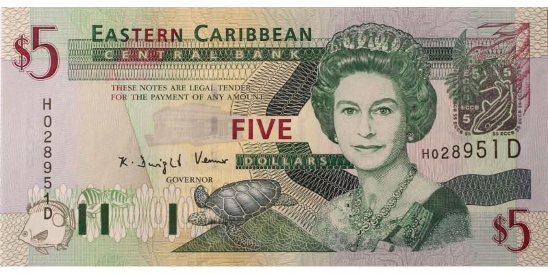 Kelet-Karibi Államok 5 dollár (2003) Dominica