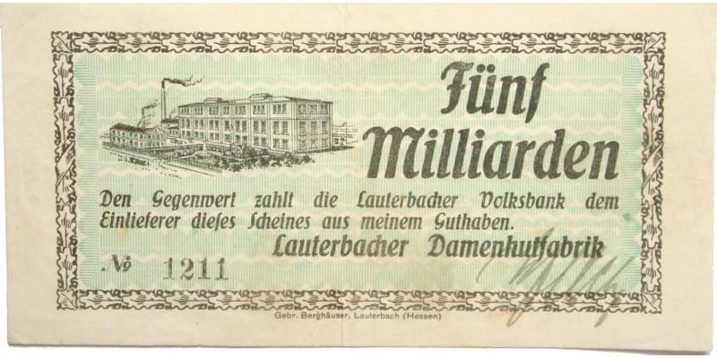 Németország Lauterbach 5 millárd márka én. (1923) R!