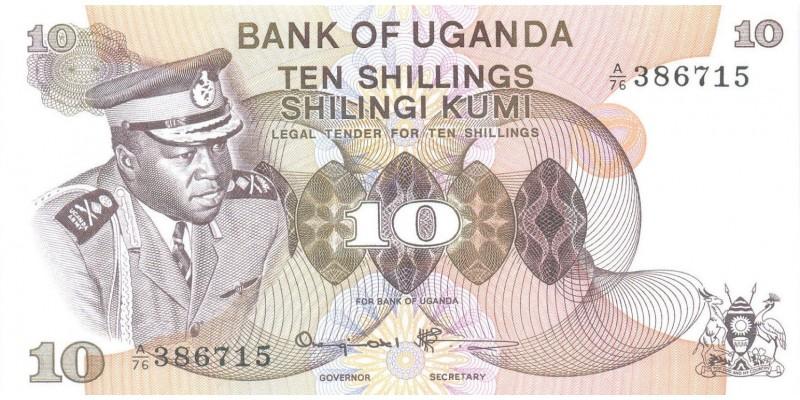 Uganda Idi Amin Dada 10 shilling ND (1973)