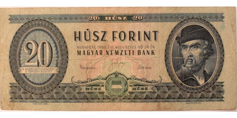 20 forint 1960
