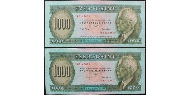 1000 Forint 1993 2db