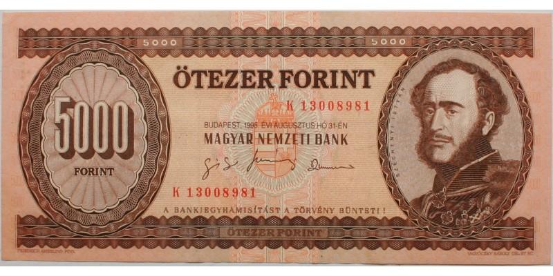 5000 forint 1995 K sorozat R!