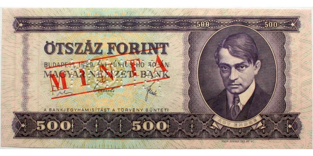 500 forint 1969 Minta
