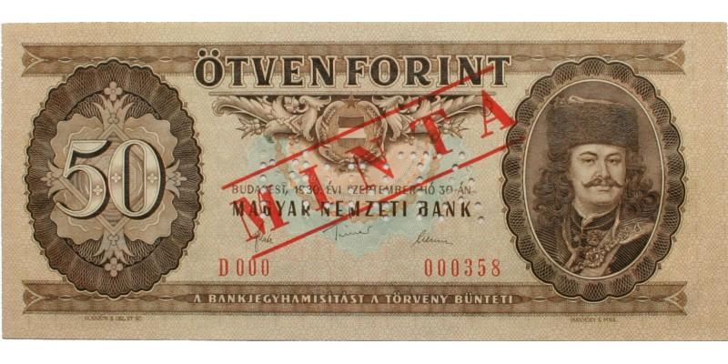 50 forint 1980 Minta
