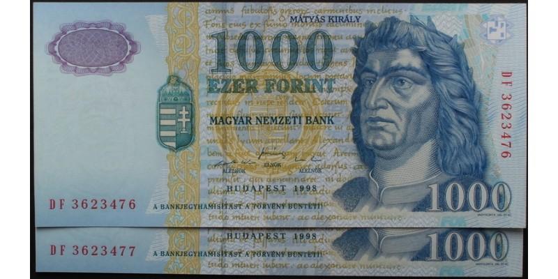 1000 Forint 1998 2db DF
