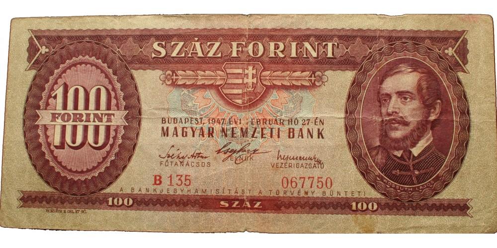 100 forint 1947