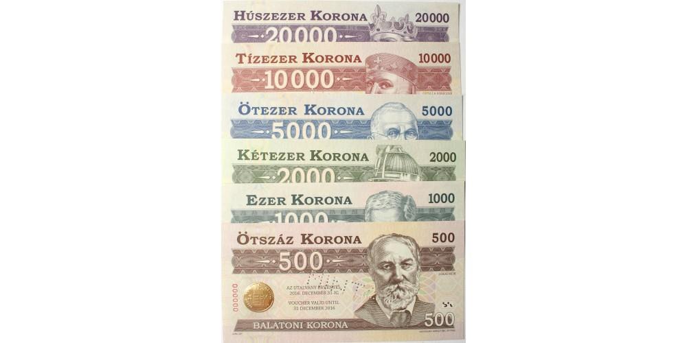 Balatoni korona 2016 minta sor 6db