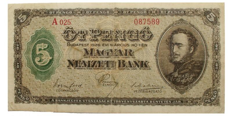 5 pengő 1926 R!