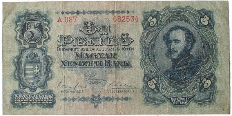 5 pengő 1928