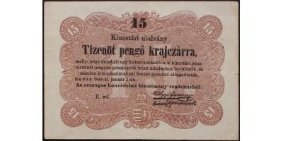 15 pengő krajcár 1849