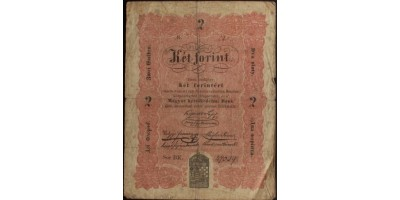 """2 forint 1848 """"akarmikor"""" tévnyomat"""