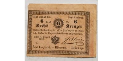 Almássy 6 krajcár 1849
