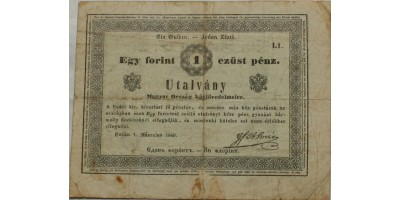 Almásy 1 gulden 1849 RR!