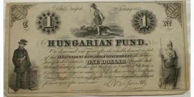 Kossuth 1 dollár 1852