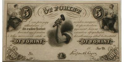 Kossuth 5 forint 1852