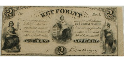 Kossuth 2 forint 1852