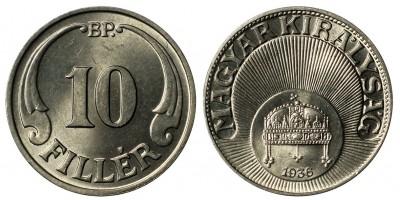 10 fillér 1936
