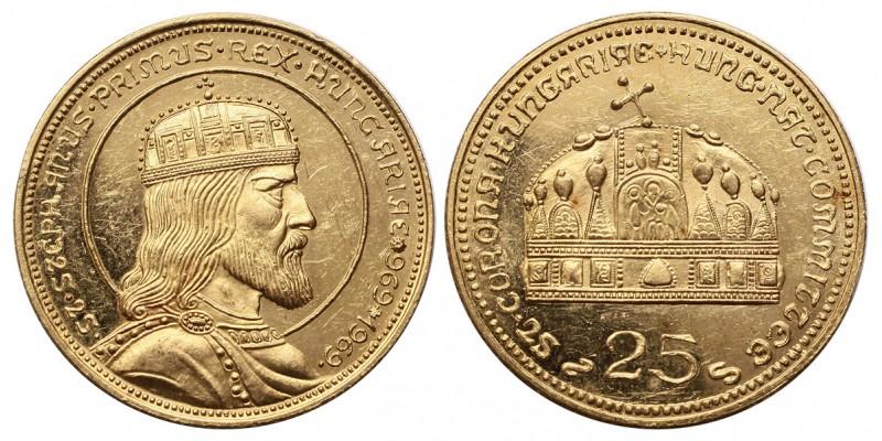 Szent István arany 25 pengő 1969 R!
