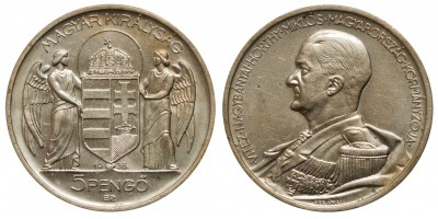 Horthy 5 pengő 1938 R!