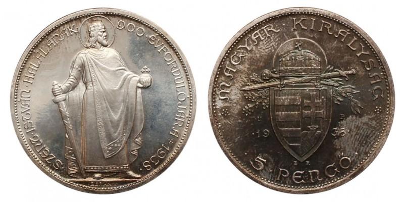 5 Pengő 1938 U.P.