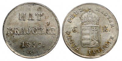 Hat Krajcár 1849 NB
