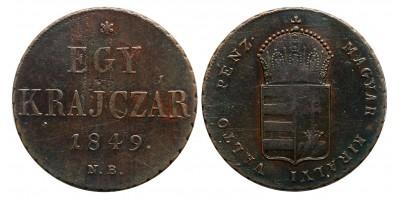 Egy krajczár 1849 NB