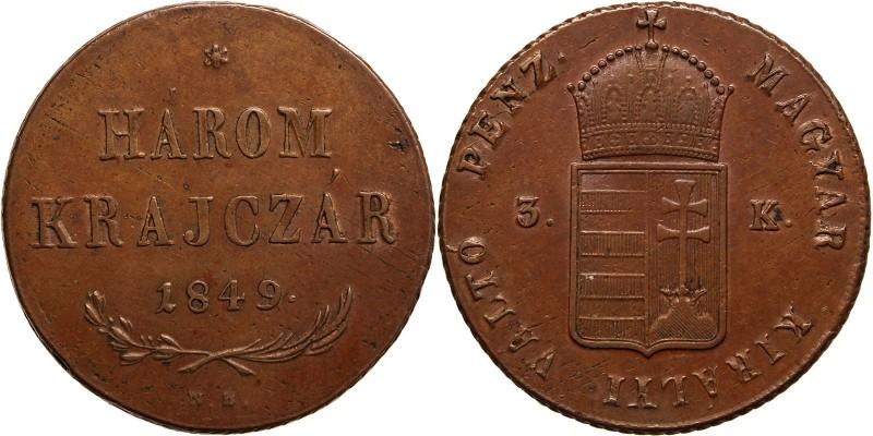 Szabadságharc 3 krajcár 1849 NB.