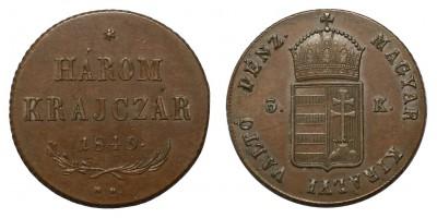 3 krajcár 1849 NB