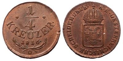 I.Ferenc 1/4 krajcár 1816 O