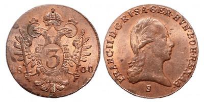 I.Ferenc 3 krajcár 1800 S