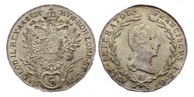 I.Ferenc 5 krajcár 1818 B